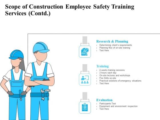 Employee Safety Health Training Program Scope Of Construction Employee Safety Training Services Template PDF