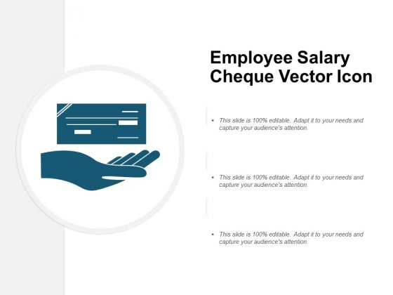 Employee Salary Cheque Vector Icon Ppt PowerPoint Presentation Slide Download