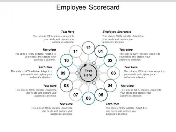Employee Scorecard Ppt Powerpoint Presentation Professional Deck Cpb