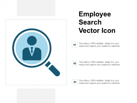 Employee Search Vector Icon Ppt Powerpoint Presentation Model Themes