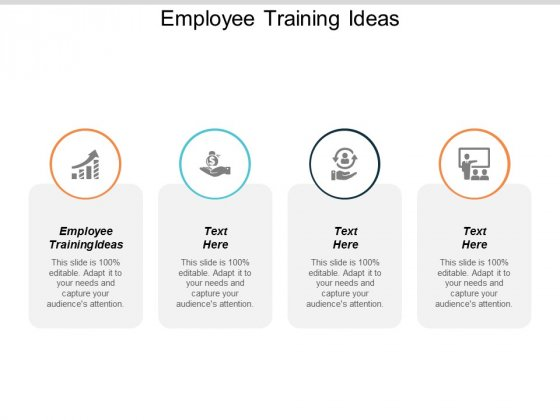 Employee Training Ideas Ppt PowerPoint Presentation Infographic Template Graphics Download Cpb