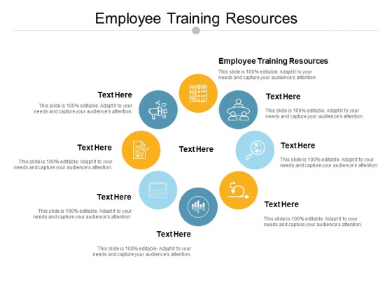 Employee Training Resources Ppt PowerPoint Presentation Summary Infographics Cpb