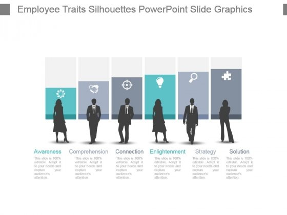 Employee Traits Silhouettes Powerpoint Slide Graphics