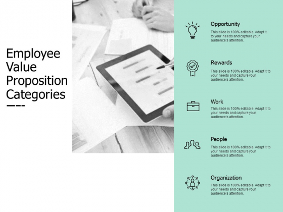 Employee Value Proposition Categories Ppt PowerPoint Presentation Infographic Template Portrait