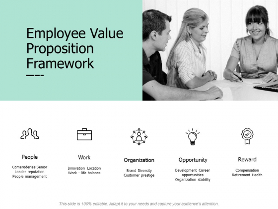 Employee Value Proposition Framework Ppt PowerPoint Presentation Model Show