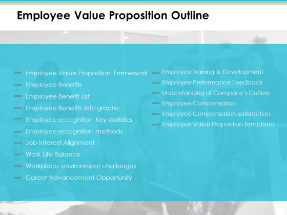 Employee Value Proposition Outline Info Graphic Ppt PowerPoint Presentation Slides Vector