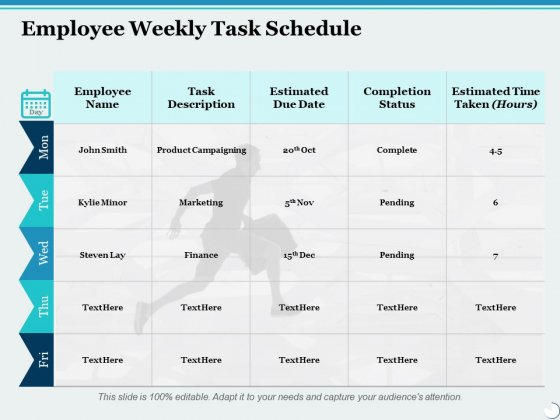 Employee_Weekly_Task_Schedule_Ppt_PowerPoint_Presentation_Ideas_Example_Introduction_Slide_1