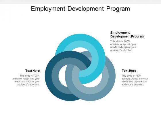 Employment Development Program Ppt PowerPoint Presentation Summary Clipart Cpb