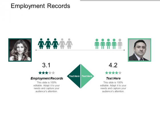 Employment Records Ppt PowerPoint Presentation Inspiration Design Templates Cpb