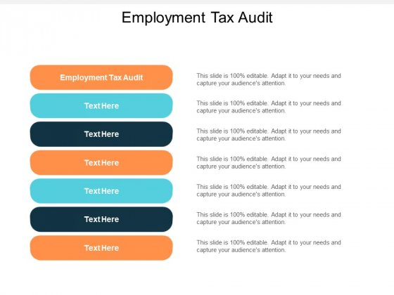Employment Tax Audit Ppt PowerPoint Presentationmodel Brochure Cpb