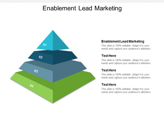 Enablement Lead Marketing Ppt PowerPoint Presentation Icon Graphics Pictures Cpb