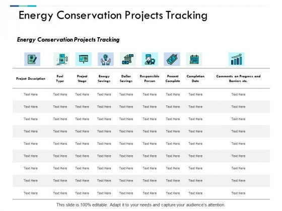 Energy Conservation Projects Tracking Ppt PowerPoint Presentation Layouts Gallery