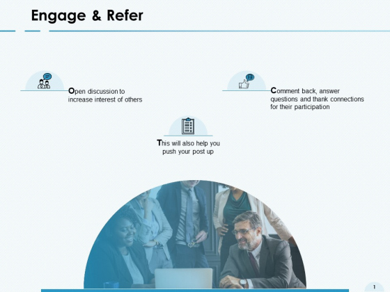 Engage And Refer Circular Ppt PowerPoint Presentation Show Example File
