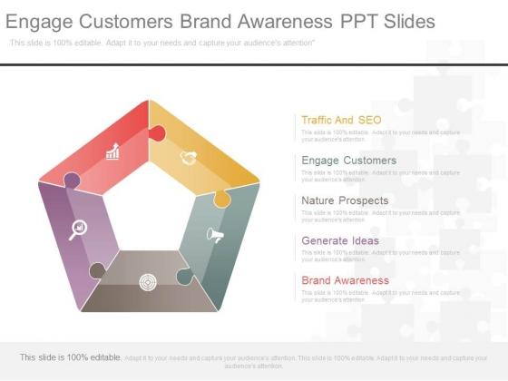 Engage Customers Brand Awareness Ppt Slides