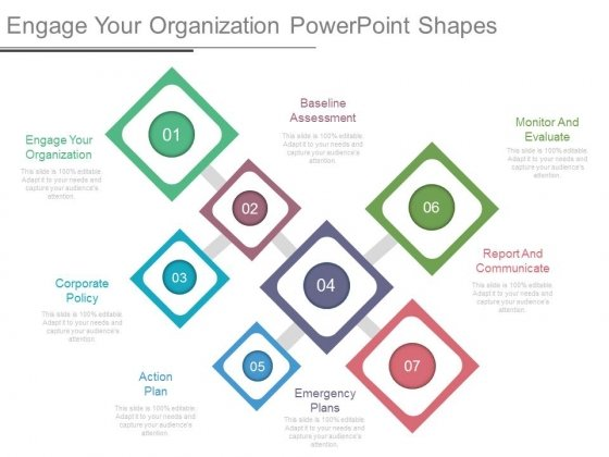 Engage Your Organization Powerpoint Shapes