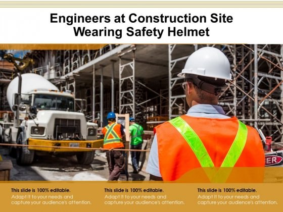 Engineers At Construction Site Wearing Safety Helmet Ppt PowerPoint Presentation Infographic Template Example 2015