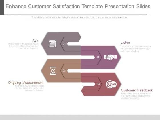 Enhance Customer Satisfaction Template Presentation Slides