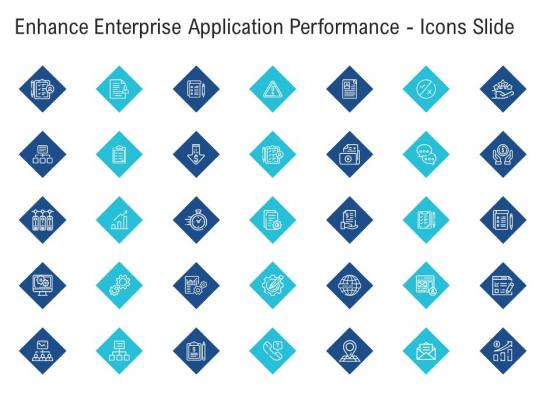 Enhance Enterprise Application Performance Icons Slide Ppt Inspiration Background Designs PDF
