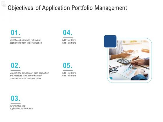 Enhance Enterprise Application Performance Objectives Of Application Portfolio Management Template PDF