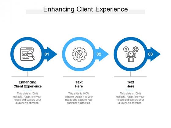 Enhancing Client Experience Ppt PowerPoint Presentation Portfolio Vector Cpb