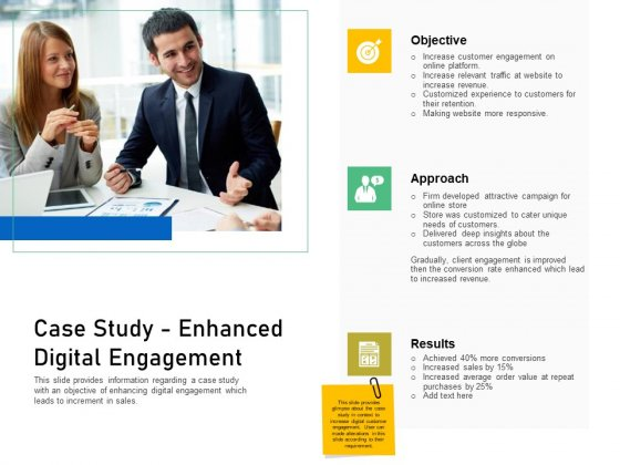 Enhancing Customer Engagement Digital Platform Case Study Enhanced Digital Engagement Summary PDF