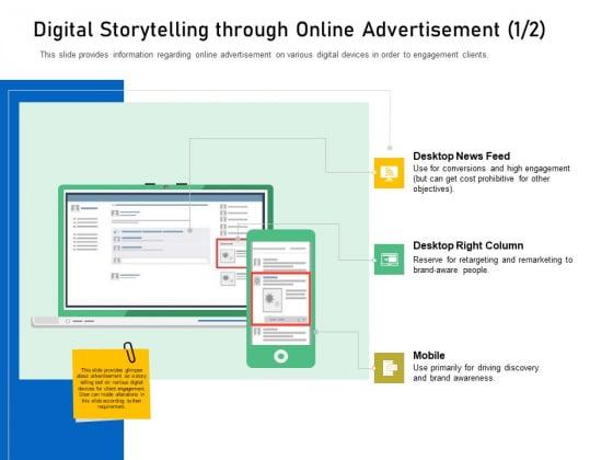 Enhancing Customer Engagement Digital Platform Digital Storytelling Through Online Advertisement Feed Formats PDF