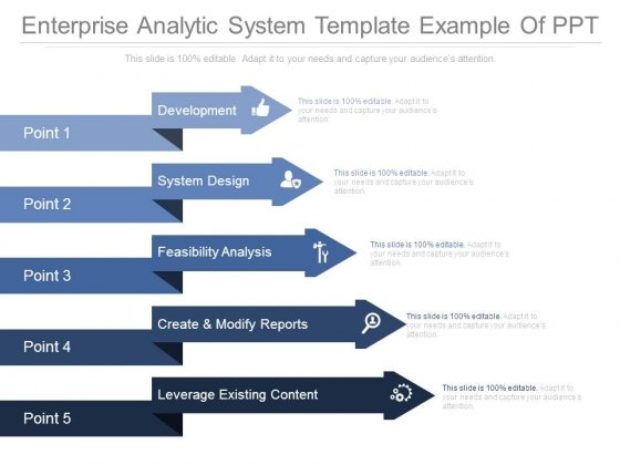 Enterprise Analytic System Template Example Of Ppt