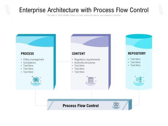 Enterprise Architecture With Process Flow Control Ppt PowerPoint Presentation Infographics Visuals PDF