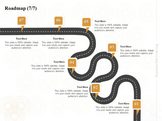 Enterprise Capabilities Training Roadmap Seven Process Flow Ppt PowerPoint Presentation Outline Examples PDF