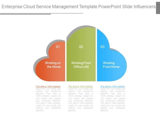 Enterprise Cloud Service Management Template Powerpoint Slide Influencers