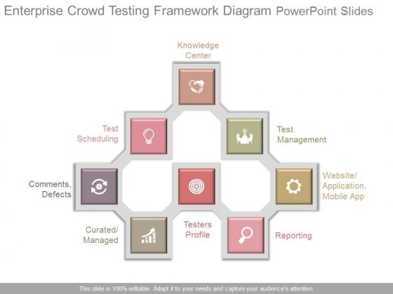 Enterprise Crowd Testing Framework Diagram Powerpoint Slides