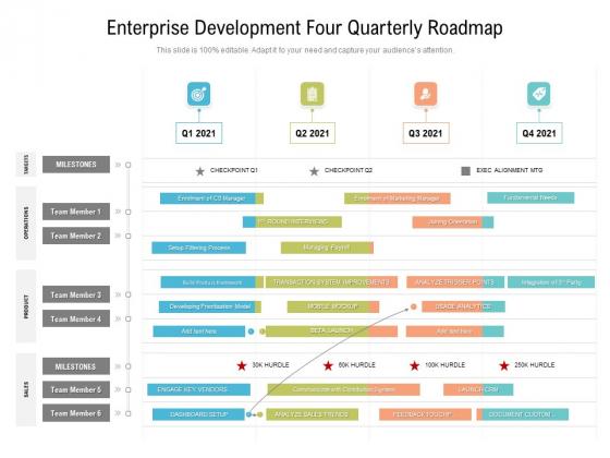 Enterprise_Development_Four_Quarterly_Roadmap_Mockup_Slide_1