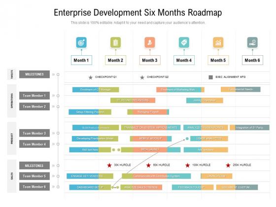 Enterprise_Development_Six_Months_Roadmap_Slides_Slide_1