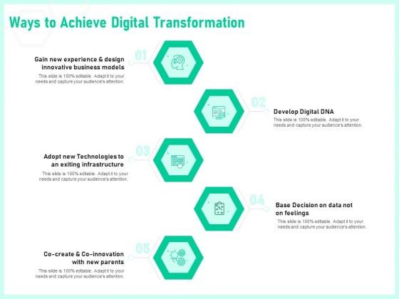 Enterprise Digital Transformation Ways To Achieve Digital Transformation Ppt Slide PDF