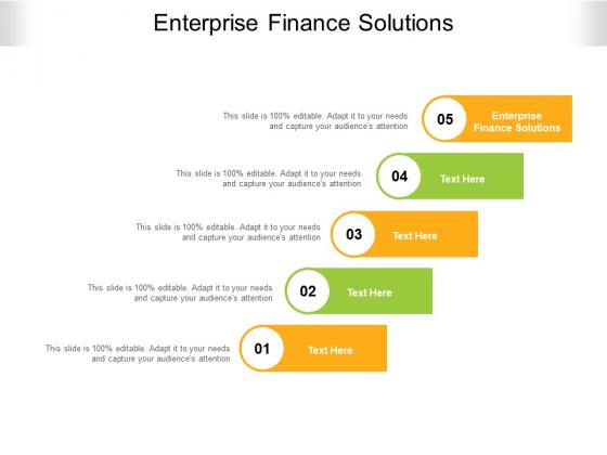 Enterprise Finance Solutions Ppt PowerPoint Presentation File Ideas Cpb Pdf
