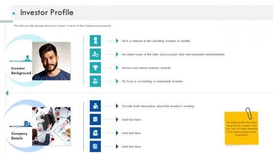 Enterprise Handbook Investor Profile Ppt Show Designs PDF
