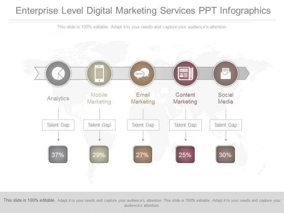 Enterprise Level Digital Marketing Services Ppt Infographics