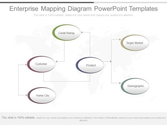 Enterprise Mapping Diagram Powerpoint Templates