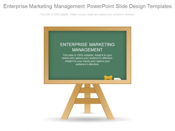 Enterprise Marketing Management Powerpoint Slide Design Templates