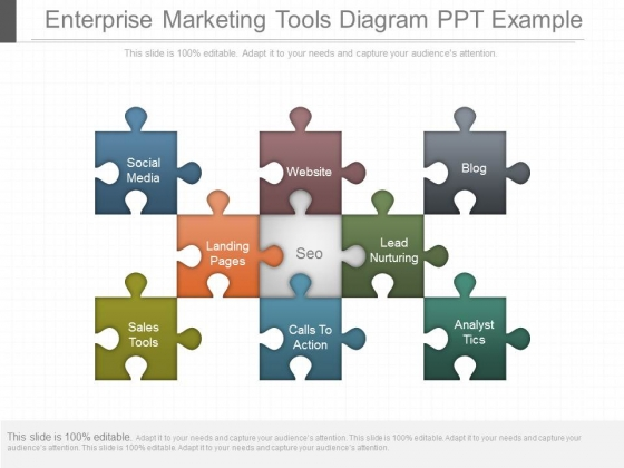 Enterprise Marketing Tools Diagram Ppt Example