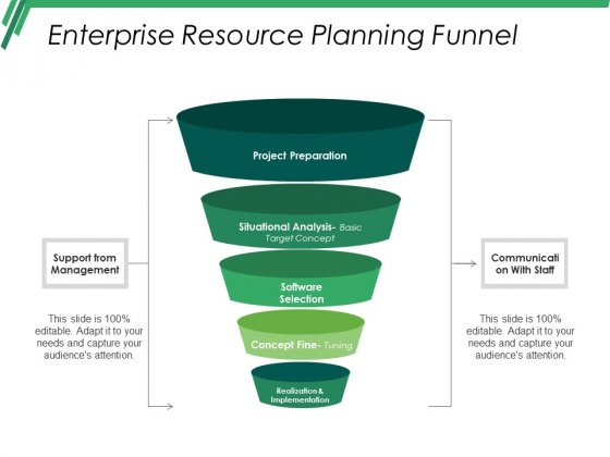 Enterprise Resource Planning Funnel Ppt PowerPoint Presentation Slide Download