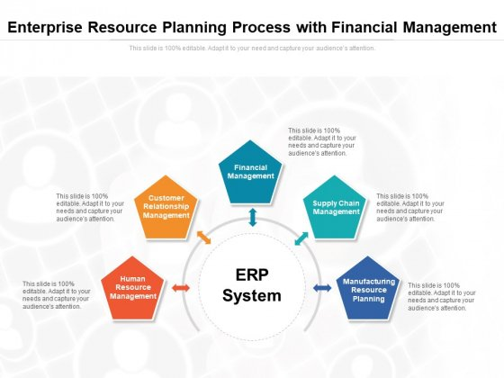 Enterprise Resource Planning Process With Financial Management Ppt Powerpoint Presentation Show Themes Pdf