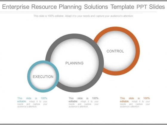 Enterprise Resource Planning Solutions Template Ppt Slides