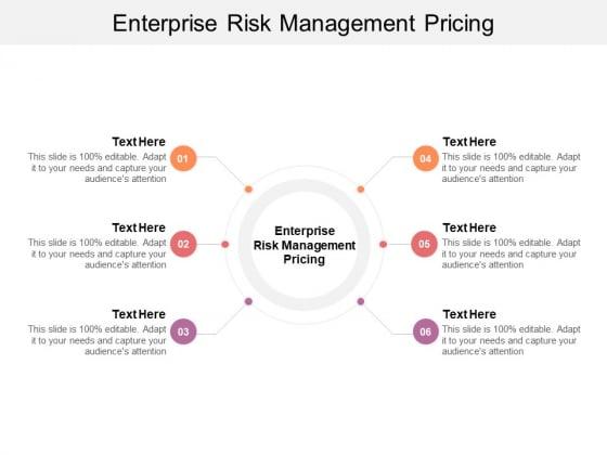 Enterprise Risk Management Pricing Ppt PowerPoint Presentation Pictures Templates Cpb