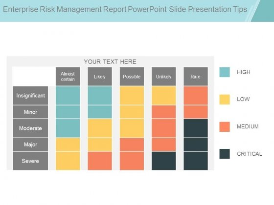 Enterprise Risk Management Report Powerpoint Slide Presentation Tips
