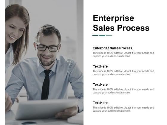 Enterprise Sales Process Ppt PowerPoint Presentation Outline Background Cpb