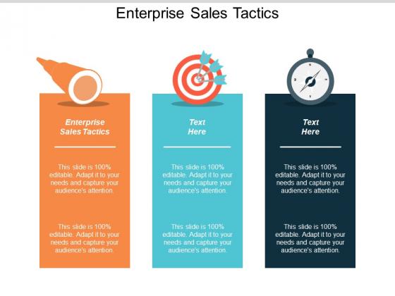 Enterprise Sales Tactics Ppt Powerpoint Presentation Show Picture Cpb