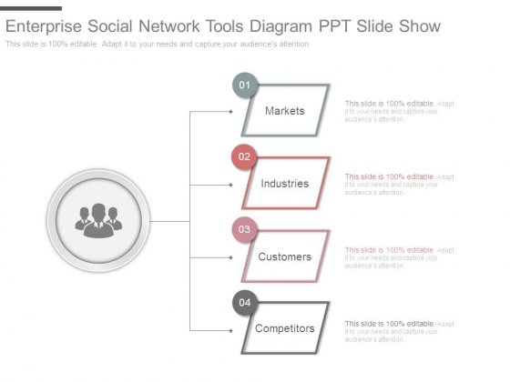 Enterprise Social Network Tools Diagram Ppt Slide Show