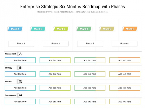 Enterprise_Strategic_Six_Months_Roadmap_With_Phases_Structure_Slide_1