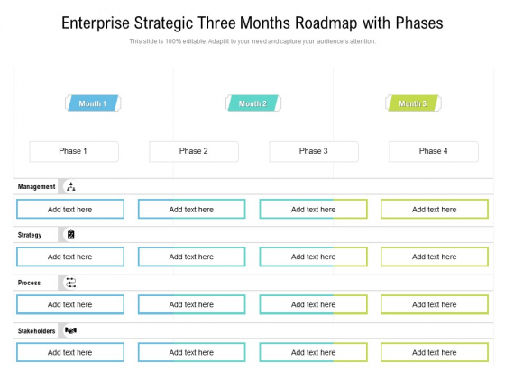 Enterprise_Strategic_Three_Months_Roadmap_With_Phases_Infographics_Slide_1